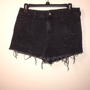 pacsun high rise shorts size 28
